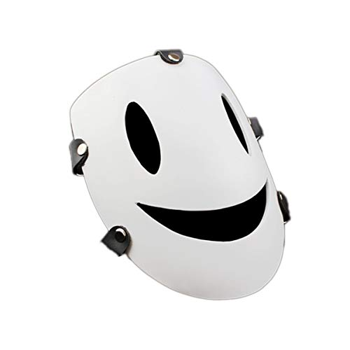 KKMask-11 Halloween Smiley Face White Mask Role Playing Props Cosplay Party Holiday Party Role Playing Supplies 1621cm