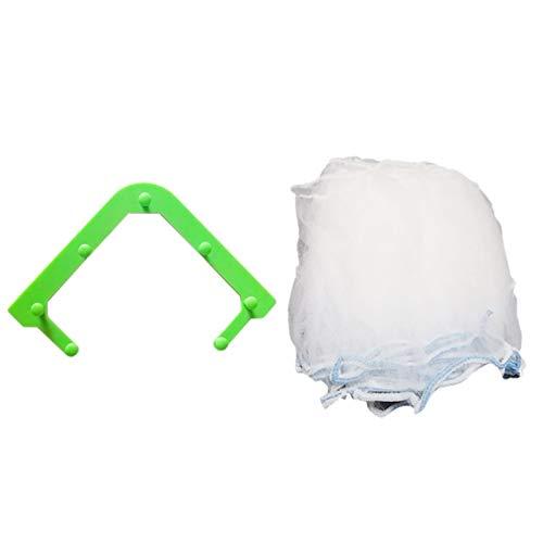 Bolsa de basura desechable para fregadero antiobstrucción de drenaje con agujero de drenaje de basura, bolsa de basura de malla para residuos de cocina