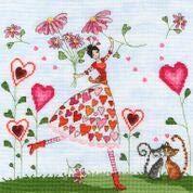 Kit de Couture à Points de Croix à Motif Miss Heart Bothy Threads