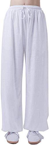 XYSQWZ Pantalones De Tai Chi para Hombres Y Mujeres Pantalones De Entrenamiento De Artes Marciales De Lino De Algodón Pantalones De Linterna De Yoga Pantalones De Jogging XL