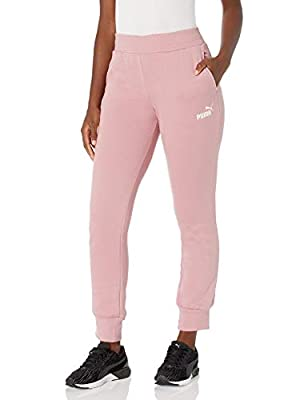 PUMA Women's Essentials Fleece Sweatpants, Foxglove, XL