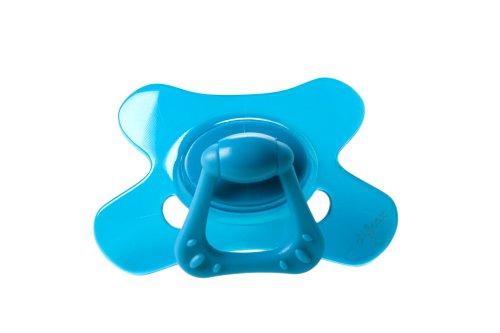 Grote fopspeen Dental Extra sterk, massief, blauw 18 maanden