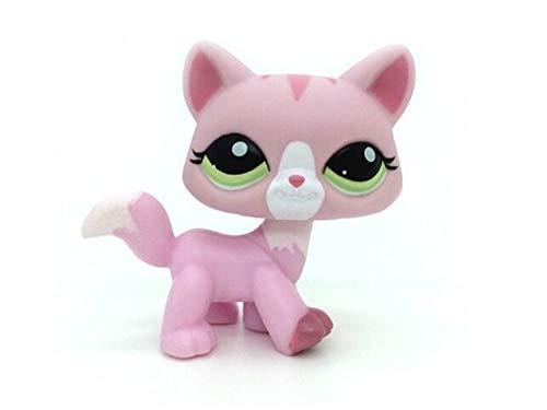 WooMax Littlest Pet Shop LPS Rare Toy Cat Kitty Animal figura rosa chica mejor regalo de cumpleaños