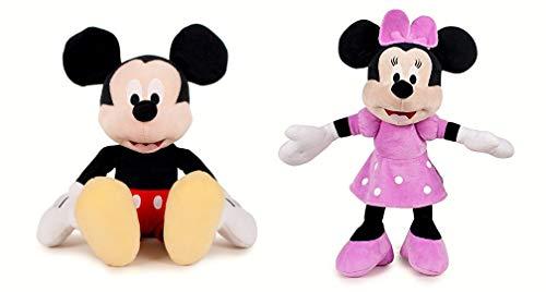 Pack 2 Peluches Mickey y Minnie Mouse Supersoft 30 cms de pie / 20 cm Sentado