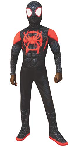 Rubie's Spider-Man: Into The Spider-Verse Child's Deluxe Mile Morales Spider-Man Costume, Large