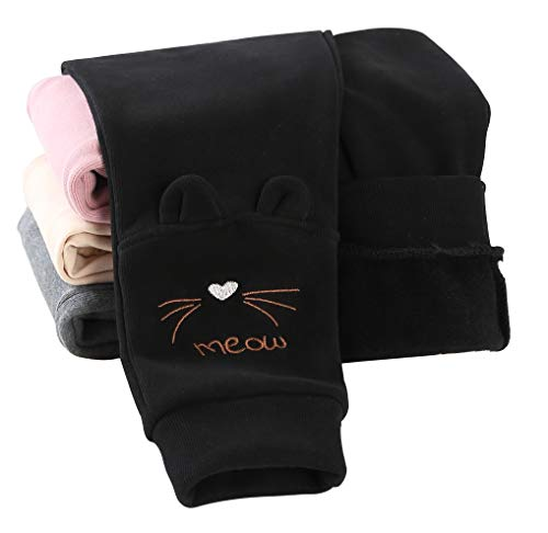 IRELIA Girls Sweatpants Print Active Fleece Joggers Pants Black M
