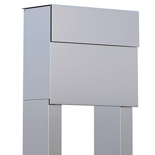 Staande brievenbus, design brievenbus Molto roestvrij staal - Bravios