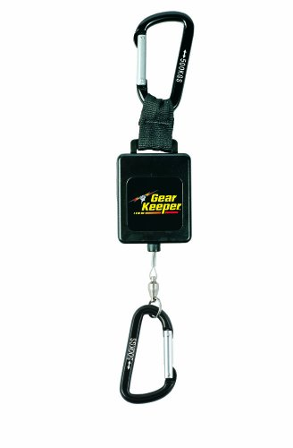 Gear Keeper RT3-4558 Retractable Instrument Tether with Aluminum Carabiner, 80 lbs Breaking Strength, 58 oz Force, 22' Extension