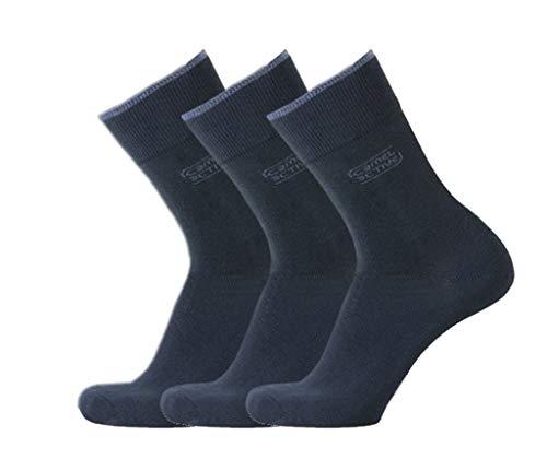 camel activ Herren Socken 3er-Pack Uni Basic 6593 / Men Socks 3pack (39-42, 545 dark Navy)