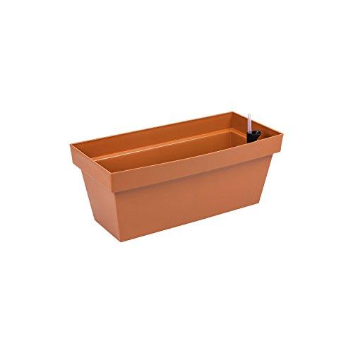 Fioriera vaso per piante Cube Case con sistema d'irrigazione, capacità 8 Lt , colore: terracotta