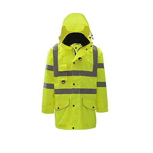 YYTL Veste Fluorescente, Manteau en Coton Réfléchissant, Vêtements De Sécurité Routière (Size : M)
