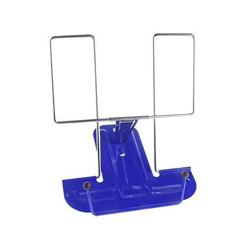 MP - Atril de Escritorio Metálico de 3 Inclinaciones, Portátil, Azul - 16 x 16.3 x 17 cm