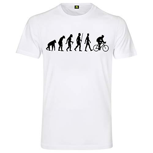 Evolution Fahrrad T-Shirt   Bicycle   Rennrad   Bike   Tour de France Weiß L