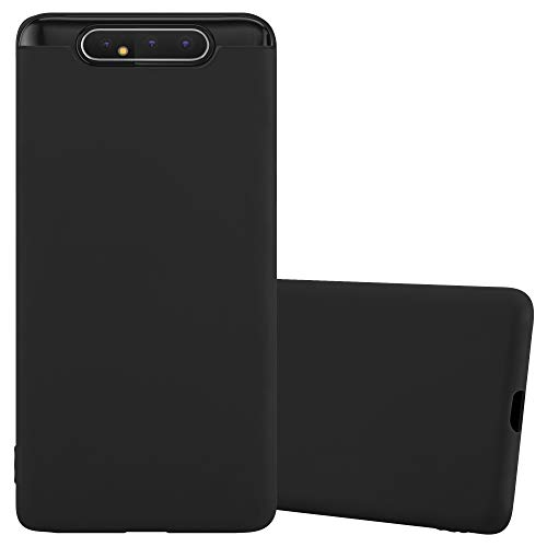 Cadorabo Hülle für Samsung Galaxy A80 / A90 in Candy SCHWARZ - Handyhülle aus flexiblem TPU Silikon - Silikonhülle Schutzhülle Ultra Slim Soft Back Cover Hülle Bumper