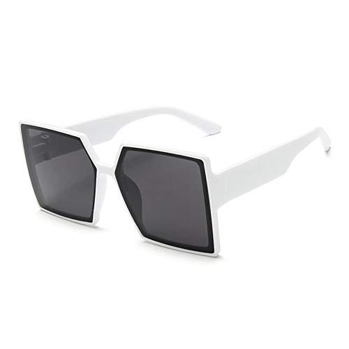 ZZOW Gafas De Sol Cuadradas De Gran Tamaño Vintage para Mujer, Gafas Grises De Moda Populares, Gafas De Sol Gradiente para Mujer, Gafas para Hombre