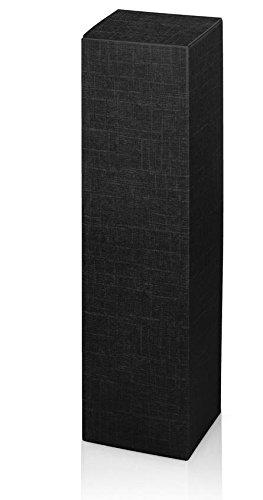 10 unidades de cajas de vino, cajas para botellas de vino Fineline negro para una botella de vino o champán (negro)