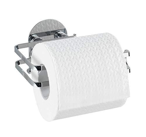 WENKO Turbo-Loc® Edelstahl Toilettenpapierhalter - Befestigen ohne bohren, Edelstahl rostfrei, 13.5 x 7 x 11 cm, Glänzend