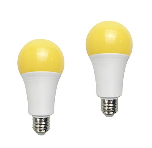 Yellow Led Bug Light 15W A21 1500LM(100 watt Equivalent) E26 Medium Base Outdoor Patio Porch Light Mosquito Repellent Light Bulbs, 2 Pack