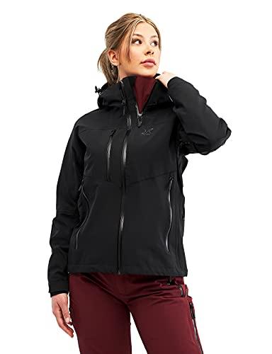 RevolutionRace Cyclone Rescue Jacket, Damenjacke, Belüftete und Wasserdichte Jacke für Wanderungen und andere Outdoor-Aktivitäten, Black, S