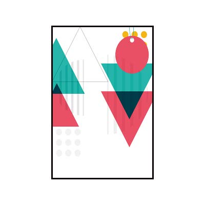 SDFSD Geometry Abstract Nordic Colorful Graffiti Poster Wall Art Canvas Painting Modern Picture Home Decor Living Room Decoration 84x112cm C