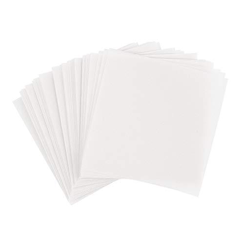 Ideen mit Herz Transparentpapier | 100 Blatt | quadratisch | Premium-Qualität | 110 g/qm | ideales Faltpapier zum Sterne basteln | transparentes Bastelpapier (weiß, 15 x 15 cm)