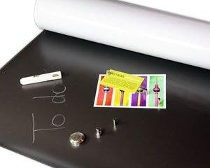 Eisenfolie Ferrofolie roh unbeschichtet, kaschierbar mit SK-Folien - 0,4mm x 50cm x 100cm - Flexibler Haftgrund für Magnete