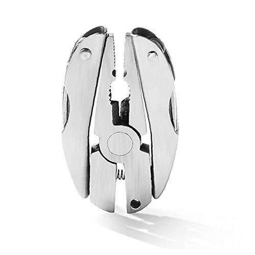 Mini Plegable alicates Multi-Herramienta del Destornillador de Cabeza Plana de aleación portátil para Cortador de uñas Archivo de Clave de la Cadena