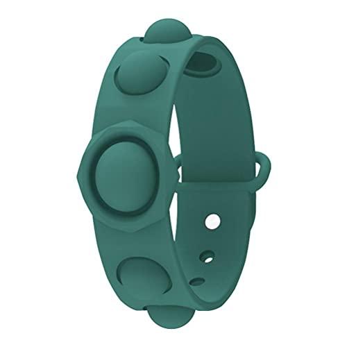 Mini sensorial Fidget Toy Descompresión Pulsera Alivio del estrés Flip Puzzle Presione Finger Bubble Music Pulsera para niños y Adultos