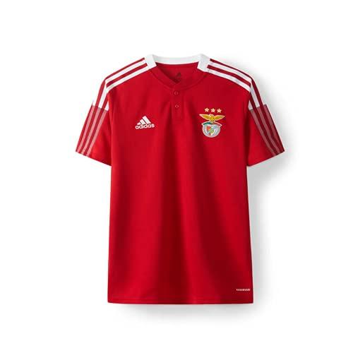 adidas Benfica Red Polo 2021 2022 Kids, Boys, Tmpwrd, 7 Años