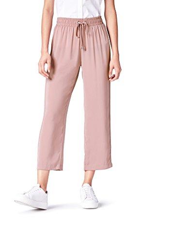 find. Hose Damen mit weitem geradem Bein und Bundfalten Violett (Mauve), 46 (Herstellergröße: XXX-Large)