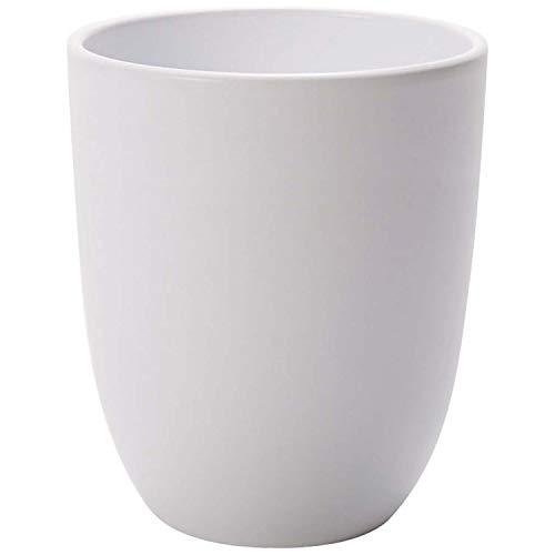 Annastore Orchideen Übertopf Ella aus Keramik Ø 13 cm - H 15,5 cm Blumenübertopf Orchideentopf Keramiktöpfe Farbe Weiß/Matt - rund