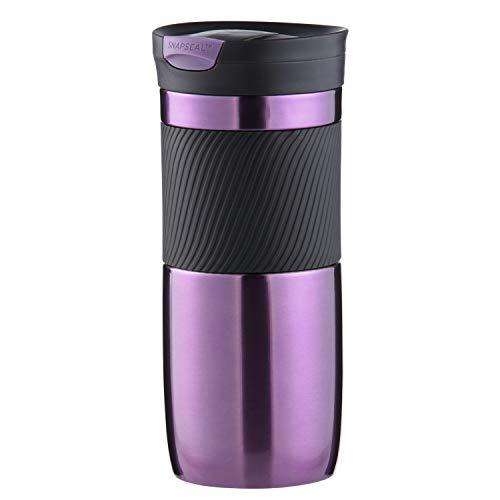 Contigo Vaso Termico Byron Snapseal, Termo Café, Taza de Viaje en acero inoxidable, Vaso Termo antigoteo, Copa con Tapa fácil de limpiar sin BPA, 470 ml, Viola(Violet)