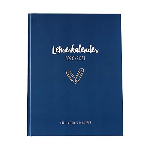 Odernichtoderdoch Lehrerkalender - Planer für Lehrer mit Downloadseiten zum Drucken und Einkleben - Dunkelblau