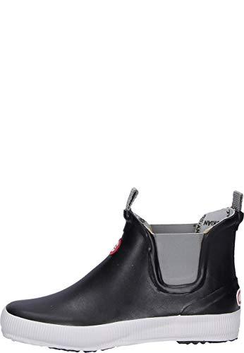 Nokian Footwear Hai Low - knöchelhohe Kurzschaft Gummistiefel für Damen und Herren, handgefertigt aus Naturkautschukmischung, 43 EU, Black
