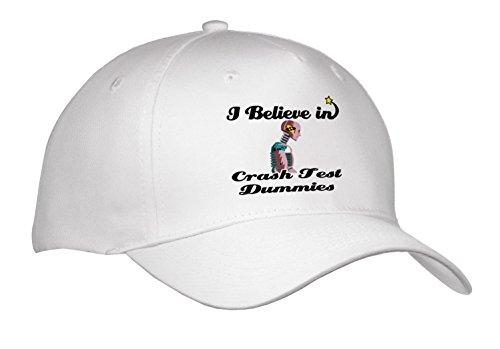 3dRose Dooni Designs I Believe in Designs - I Believe in Crash Test Dummies - Adult Baseball Cap (Cap_105077_1)