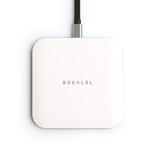 BEZALEL Futura X 15W Fast Charge Charging Pad Compatible with iPhone 11/11 Pro/11 Pro Max/XR/XS/X/8 Plus Galaxy S20/S10/S9 Note 10/9/8 Sony LG G7/G8/V40, Pixel 3/4 XL - White (7mm Thin, Qi-Certified)