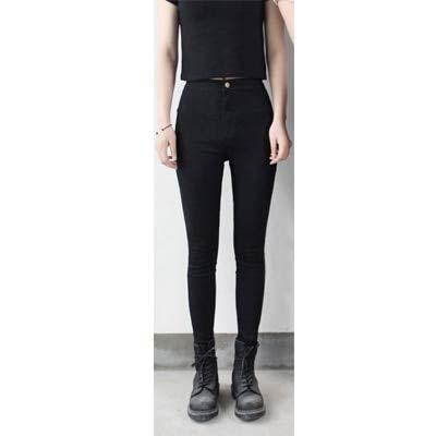 KXDNZK ZKXDN Jeans Voor Vrouwen Stretch Zwarte Jeans Vrouw Broek Skinny Vrouwen Jeans Met Hoge Taille Denim Blauw Dames Push Up Witte Jeans XS zwarte jeans