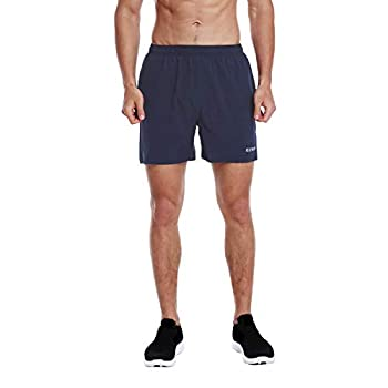 EZRUN Men s 5 Inches Running Workout Shorts Quick Dry Lightweight Athletic Shorts with Liner Zipper Pockets,Navy Blue,XL