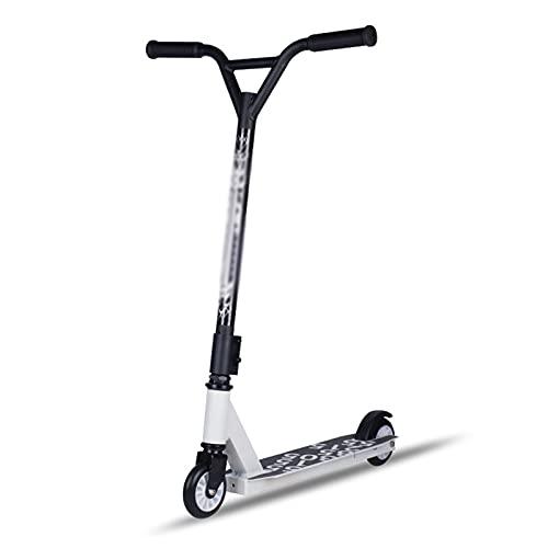 Hou Hexin Trade Scooter Adulto Pedal Scooter Scooter Adulto Plegable con Scooter de Pedal de Freno de Mano es Adecuado para Adultos y niños Menores de 100 kg (Color : White)
