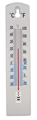 Faithfull THPLASTIC 200mm Thermometer Wall Plastic