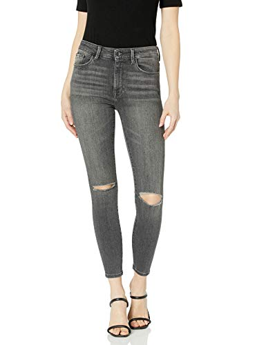 Madison Denim Women's Parsons High Waisted Ankle Power Stretch Skinny Jean-Pebble-27