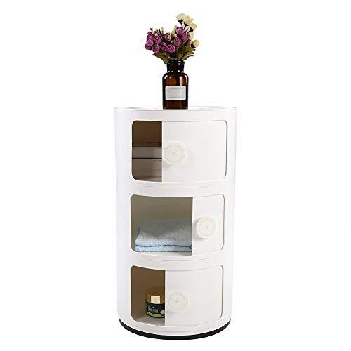 Cocoarm Mueble de Baño, 3 Niveles Armario para Baño Armarios de Suelo Cajón de la Puerta Deslizante, 63 × 32cm (Blanco)