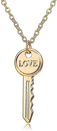 Necklace Fashion Necklace Pendant Necklace Padlock And Key Couple Necklaces For Women And Men Romantic Love And Friendship Promise Fashion Necklace Pendant Necklace Gift For Men Women Girls Boys