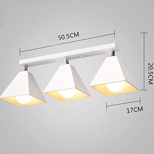3 Light Track Lighting wand- en plafondlamp verstelbaar, geborsteld nikkel, bronskleurig met olie-laag, zwart-wit lichaam, wit