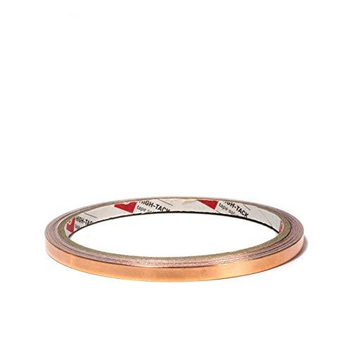DonDo Schneckenband selbstklebend Kupferband EMI Abschirmend gegen Schnecken Kupferfolie Kupferband 5mm x 5,5 Meter