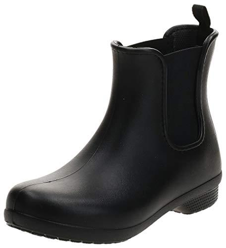 crocs Damen Freesail Chelsea Boot W Gummistiefel, Black, 38/39 EU