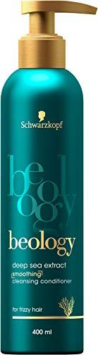Schwarzkopf beology Geschmeidigkeits-Reinigende-Spülung, für widerspenstiges Haar, mit Tiefsee-Extrakt, 3er Pack (3 x 400 ml)