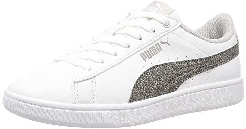 Puma Damen Sneaker Vikky v2 Metallic 373227 Puma White-Puma Silver-Gray Violet 38.5