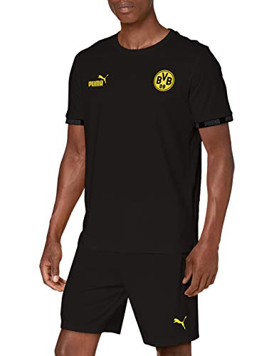 PUMA Herren T-Shirt BVB FtblCulture, Puma Black, L, 755787