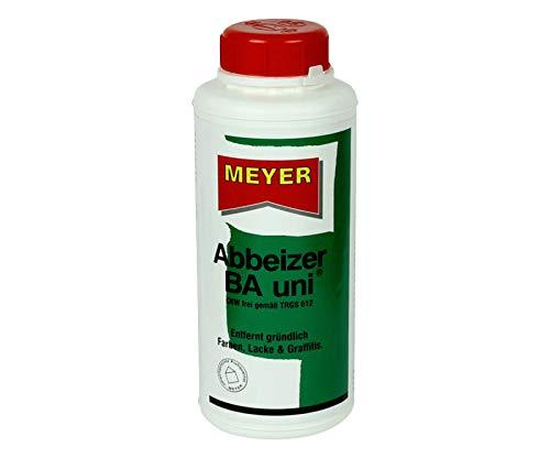 wasseremulgierbares Abbeizmittel 0,75 Liter, biologisch abbaubar, Lackentferner Farbentferner Entlacker Abbeizer GEL inkl. Pinsel von E-Com24 (Abbeizer BA Uni)